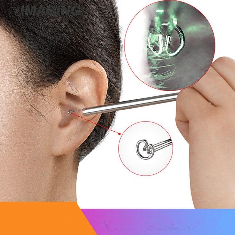 Aletler'ten Boroskoplar'de Cep telefonu dijital kulak kaşığı görsel kulak toplama aleti kazma kulak kanal temizleyici bulanıklık temizleyici title=