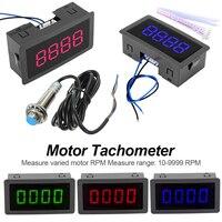 Tacómetro contador RPM tacómetro de 4 dígitos con interruptor Hall interruptor con sensor de proximidad 12V rango de medición 10 9999RPM|Instrumentos de medición de velocidad|Herramientas -