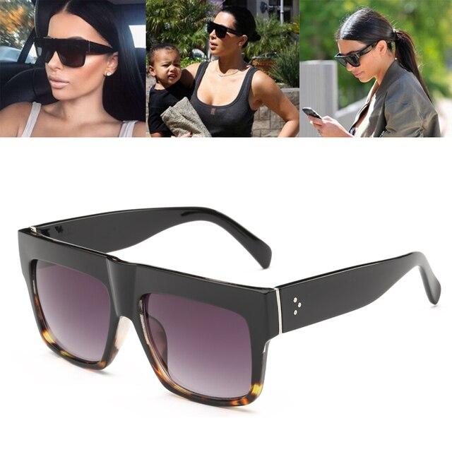 e8ad4935bf09a Nova Moda Kim Kardashian Estilo Óculos De Sol Das Mulheres de Design Da  Marca Do Vintage