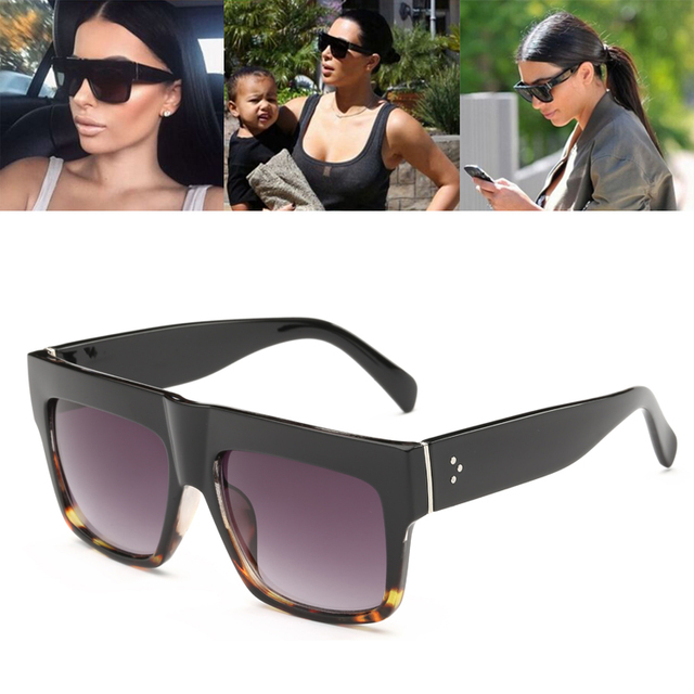 7f9e84d5db Nueva moda estilo De Kim Kardashian gafas De Sol mujer Marca Diseño  cuadrados Vintage gafas De