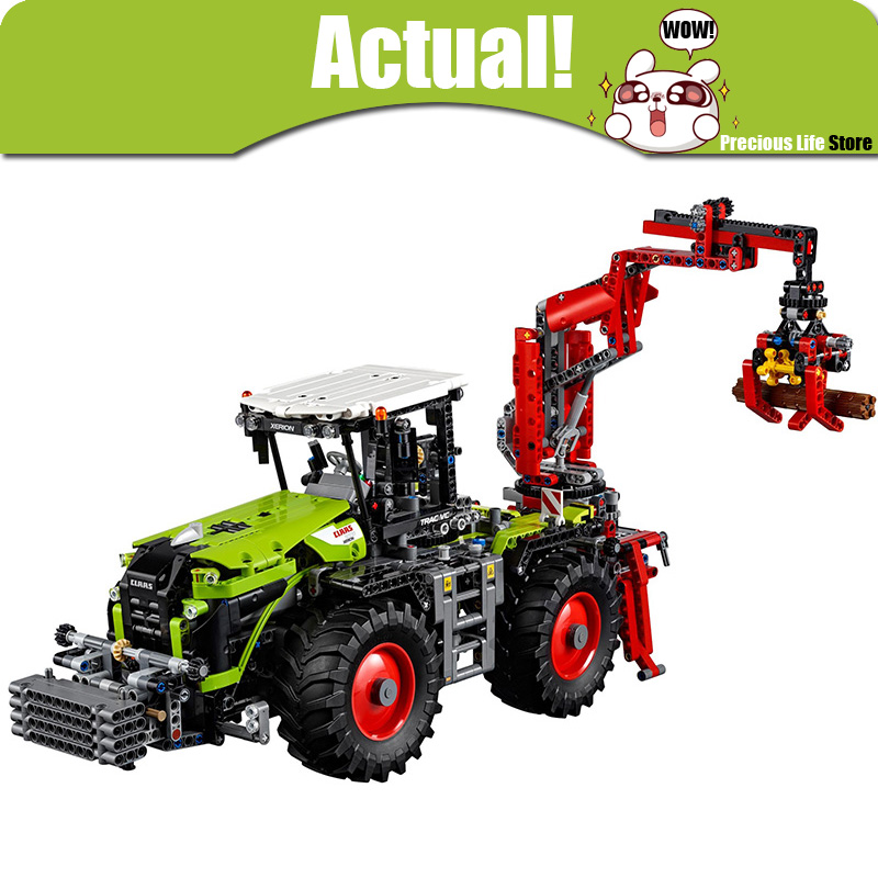 LEPIN 20009 Tractor Car Motor Technic Model Building Blocks Bricks Toys diy For Kids 1977PCS Compatible with legoINGly 42054 lepin 20009 1977pcs technic series the tractor model building blocks bricks compatible with 42054 boy s favourite