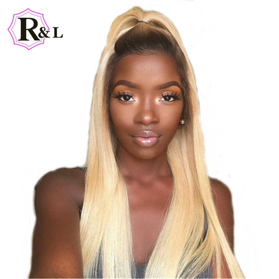 Rulinda 1B 613 Ombre Blonde 13x4 Lace Front Human Hair Wig For Women Brazilian Remy Short