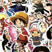 60 pièces/ensemble Anime 2019 une pièce Luffy autocollants pour voiture ordinateur portable PVC sac à dos maison décalcomanie Pad vélo PS4 étanche décalcomanie F5(China)