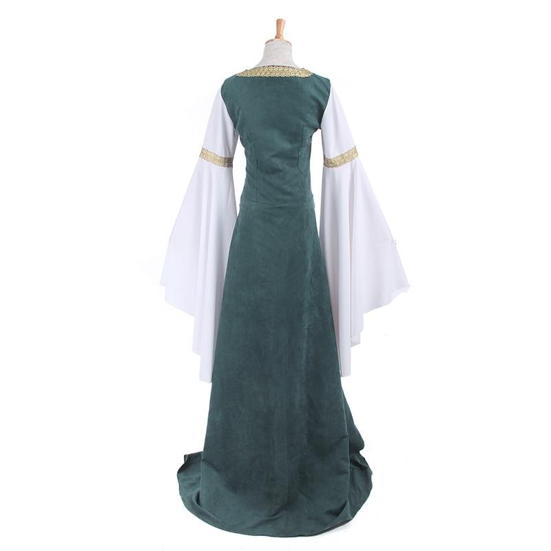 ROLECOS Mujeres Vestidos Retro Europeos Ropa Renacentista Medieval - Disfraces - foto 5