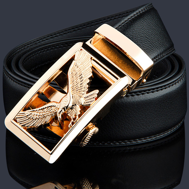Men's Leather Belt Eagle or Dragon Clasp