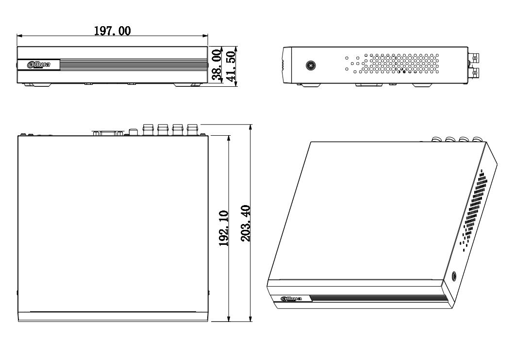 Купить с кэшбэком Dahua XVR1B04 4 Channel Penta-brid 1080N/720P Cooper 1U Digital Video Recorder
