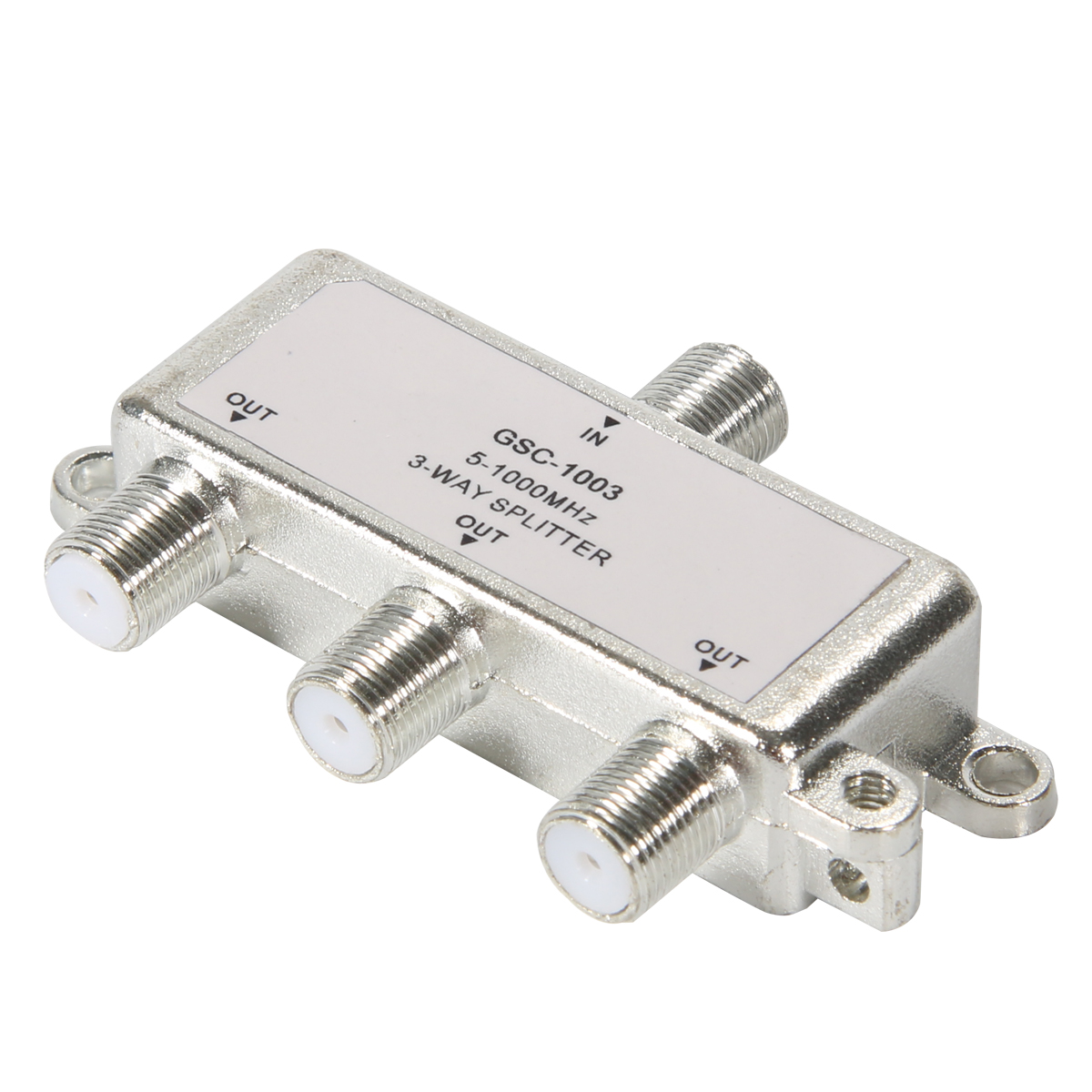 3 Way 5 1000 MHz Signal Aerial Coaxial F Splitter Cable TV Switch ...