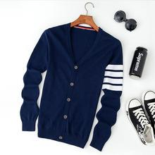 2016.11.11 New Men's Knitted Sweater Cardigan Coat Korean Male Long Sleeved Free Shipping