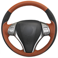 XuJi Genuine Leather Suede Steering Wheel Cover for Nissan Teana Altima 2013-2016 X-Trail QASHQAI Rogue Sentra Tiida 2016