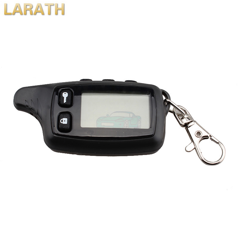 LARATH New Remote Controller Keychain Two Way Car Alarm System LCD Fob For Russian Tomahawk TW9010