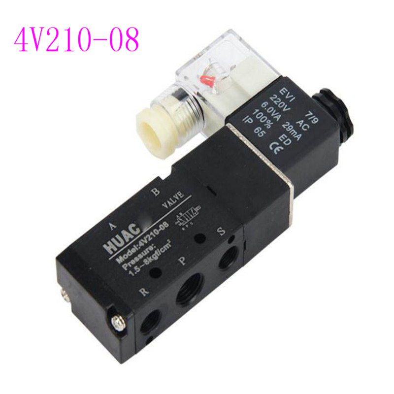 Factory direct quality 4V210-08 solenoid valve AIRTAC type black