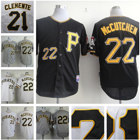 online store 90c26 10a27 US $24.88 |2015 Pittsburgh Pirates jersey shirt Embroidery #22 Andrew  McCutchen Jersey authentic pittsburgh pirates throwback jersey custom-in ...
