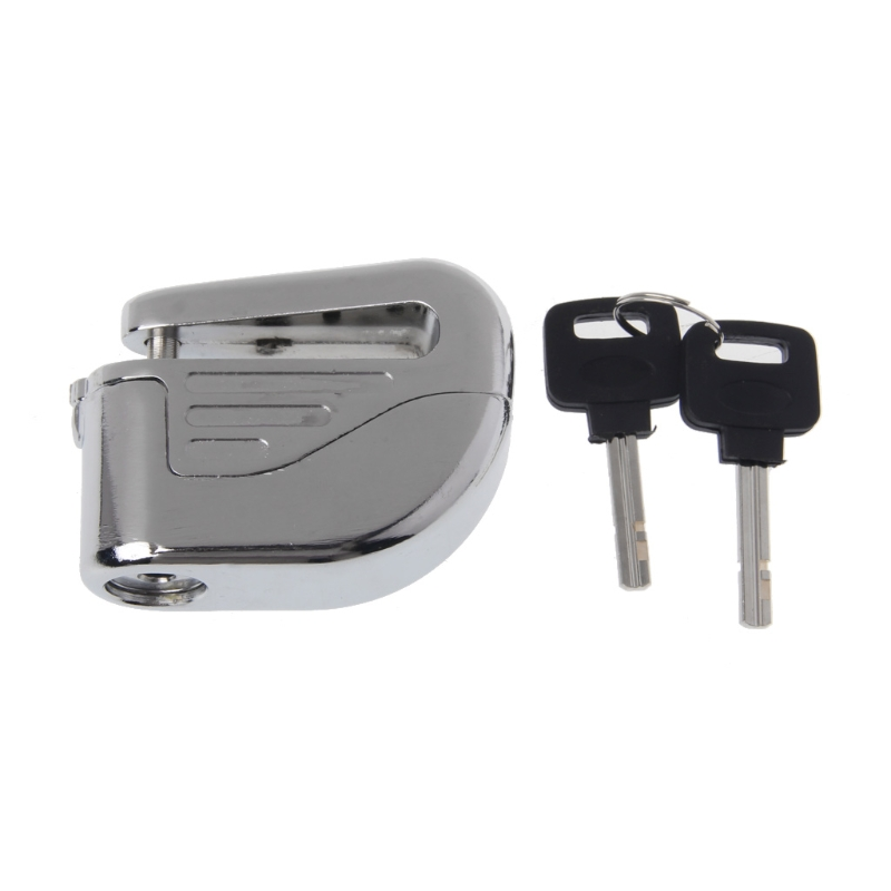 Free Delivery 1cm Motorcycle Scooter Bicycle Anti-theft Wheel Disc Brake Lock Security Alarm+2 Keys
