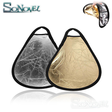 2 in1 30cm Gold/Silver Portable Folding Handheld Photograph Reflector With bag For Canon Nikon Sony Pentax Fuji Godox Yongnuo