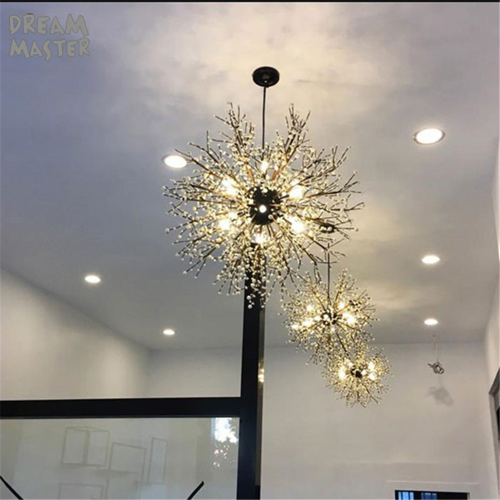 Průmyslové ručně vyráběné lustrové umění americká restaurace kavárna oblečení obchod retro nordické podkroví akrylové led stropní lustry