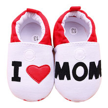 c7d552615 Детская обувь для мальчика девушка первые ходунки для новорожденных малышей  я люблю маму кроссовки обувь от