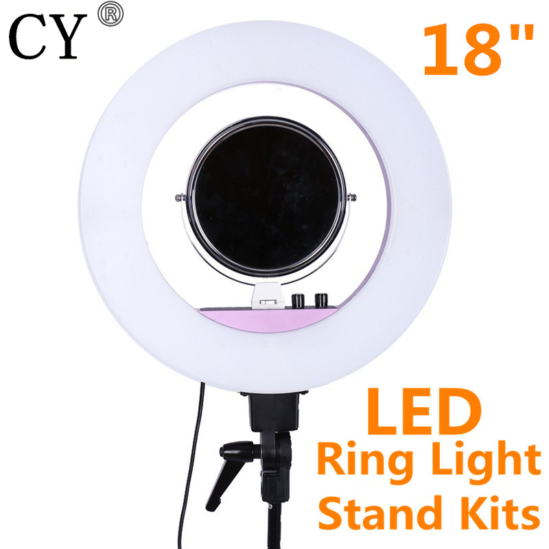 INNO 18 Inch 5500k 48w LED Ring Light Photography Dimmable Ring Lamp With Tripod Stand for Camera Photo/ Makeup & Beauty/Video
