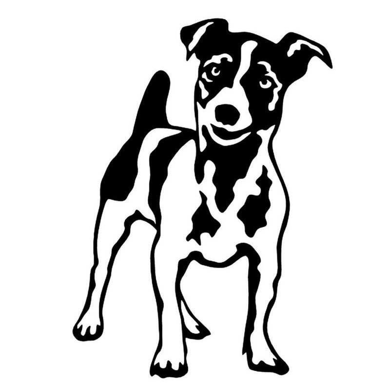 10.3*14CM JACK RUSSELL TERRIER Car Sticker Decal Fun Pet Motorcycle Decals Car Styling C2-0373 hot sale 1pc longhorn hilux 900mm graphic vinyl sticker for toyota hilux decals badges detailing sticker car styling accessories