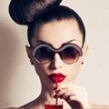 Half Bold Wave Rim Round Women Gradient Lens SUNGLASSES Retro Vintage Acetate Frame 6622 Oculos De Sol Japan Style