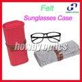 HZ01 Модные Цвета Чувствовал Кожи Повязки Sunglass Очки очки Солнцезащитные Очки Дело Box Бесплатная Доставка