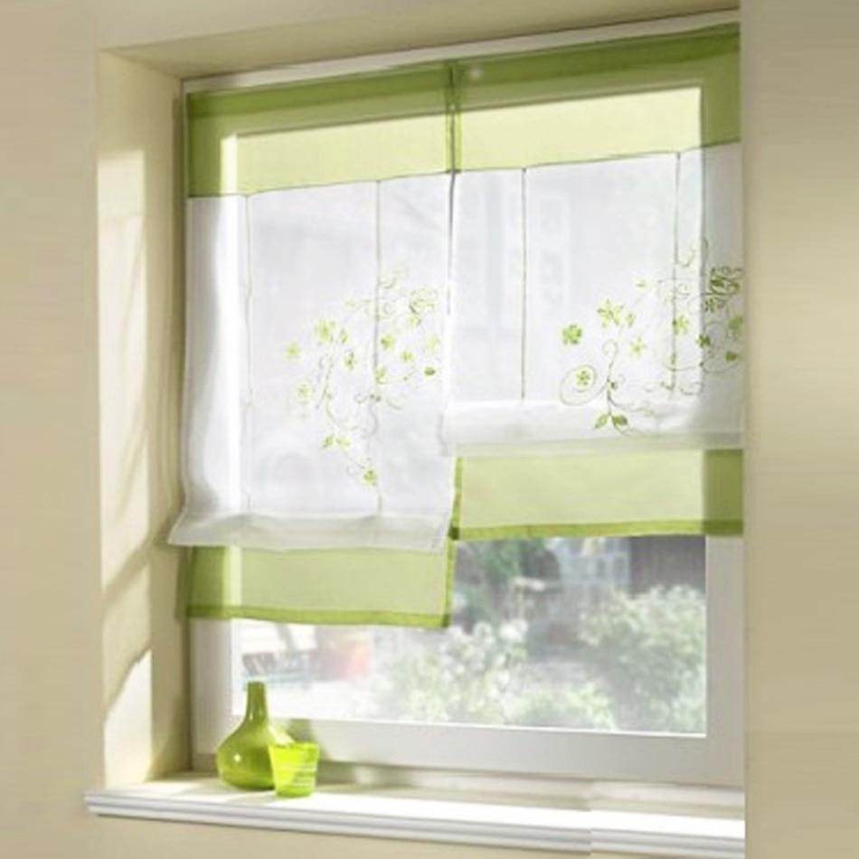 Nuevo estilo europeo bordado cortina romana rodillo cortinas para ...