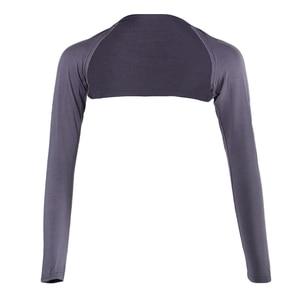 Image 4 - אופנה נשים של רך חתיכה אחת ארוך שרוולים אלסטי מודאלי זרוע חם כיסוי משיכת הכתפיים חיג אב חולצות בגדים מוסלמיים