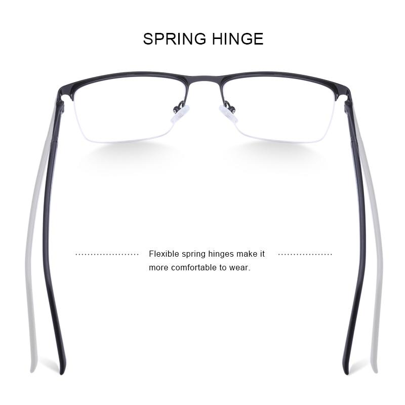 Image 3 - MERRYS DESIGN Men Titanium Alloy Glasses Frame Male Square Ultralight Eye Myopia Prescription Eyeglasses Male Half Optical S2031Mens Eyewear Frames   -