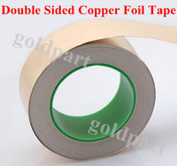 (0.06mm thick) 100mm*30M Single Sticky, Two Side Conductive Copper Foil Tape, EMI Masking fit for Transformer, Cellphone