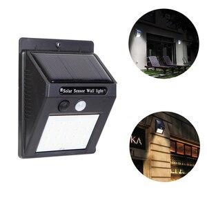 Image 2 - 30/100 LEDs zewnętrzna lampa solarna uliczna lampa solarna wodoodporny czujnik ruchu słoneczna dekoracja ogrodowa lampa światła uliczne nocne żarówki
