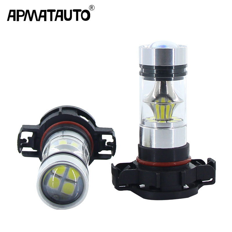 2pcs White Canbus PSX24W 5202 H16 PS19W LED <font><b>Bulbs</b></font> For MINI Cooper F55 F56 Halogen Headlamp Trim For <font><b>Daytime</b></font> <font><b>Running</b></font> <font><b>Lights</b></font> image