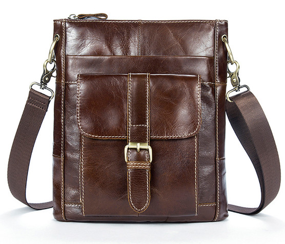 Männer Echte Leder Tasche Freizeit Umhängetasche Vertikale Leder Herren Rindsleder Schulter Tasche Geschickte Herstellung