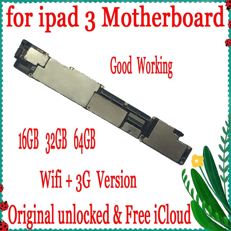Original unlocked for ipad 3 Wifi+3G Version Motherboard with Clean iCloud,Wifi+3G Version for ipad 3 Mainboard with IOS SystemOriginal unlocked for ipad 3 Wifi+3G Version Motherboard with Clean iCloud,Wifi+3G Version for ipad 3 Mainboard with IOS System