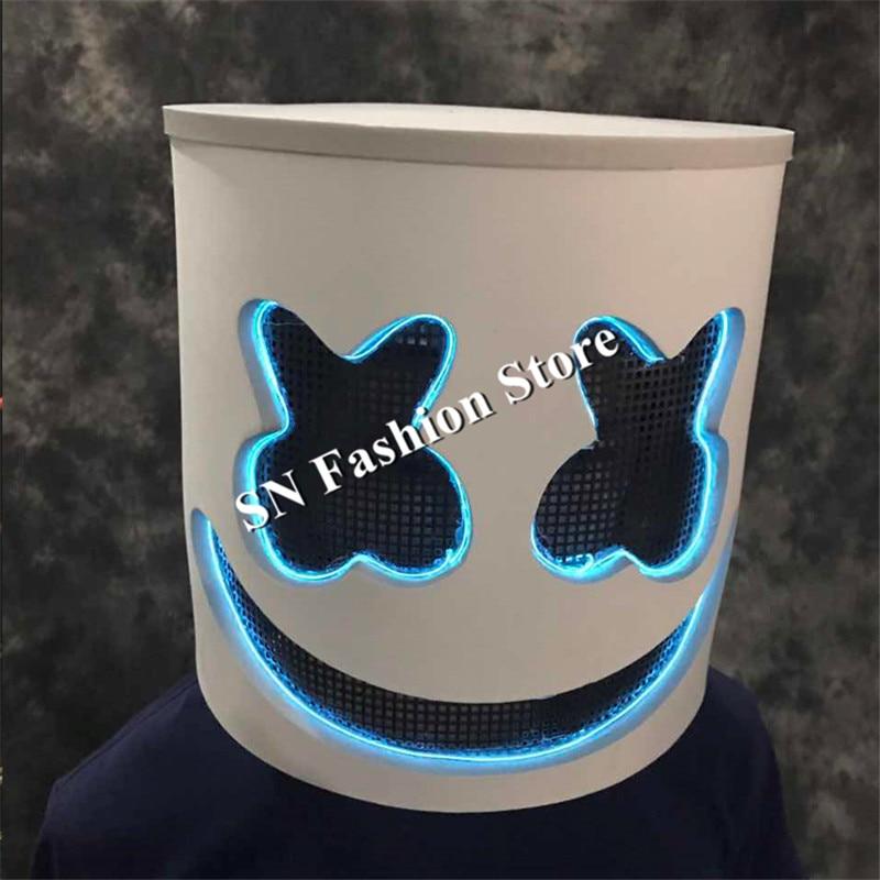 LZ14 Ballroom dance luminous robot helmet dj light helmet dancer stage wears led costumes performance show clothe party evening