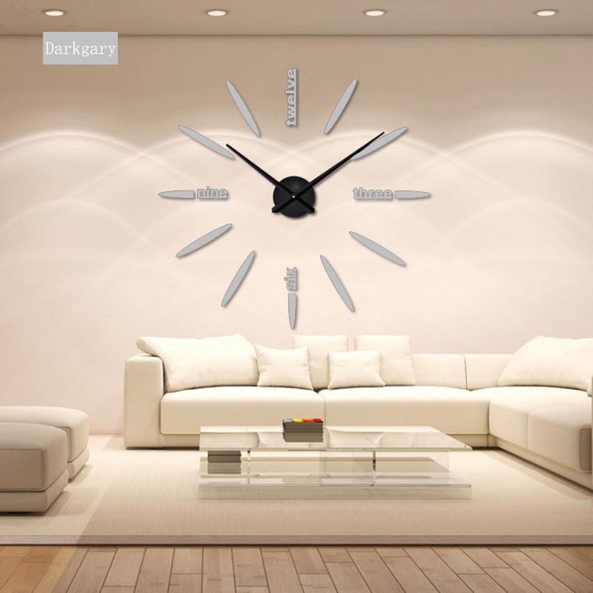 130 cm Usine 2019 Horloge Murale Acrylique + EVR + Miroir En Métal - Décor à la maison - Photo 6