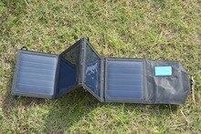Solar de Alta-eficiência Celular com Usb. Solarparts 5 V e 12 W Painel Portátil Dobrável Carregador Solar de