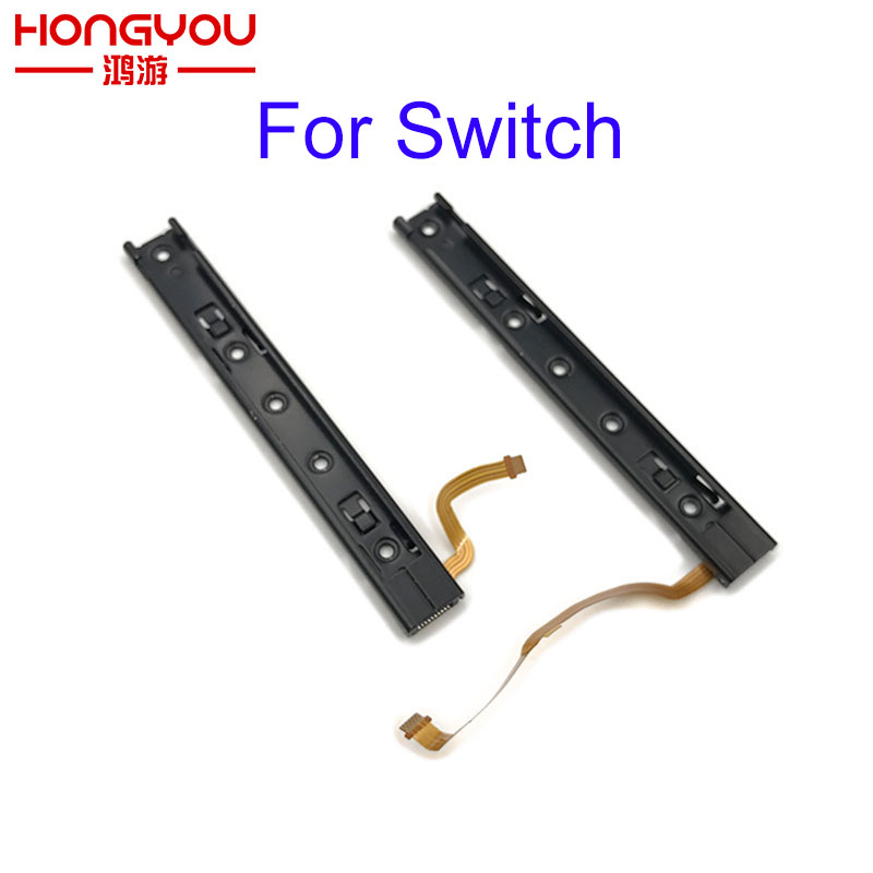 Original Repart Part Right and left Slide rail With Flex Cable Fix Part For Nintendo Switch Console NS rebuild track