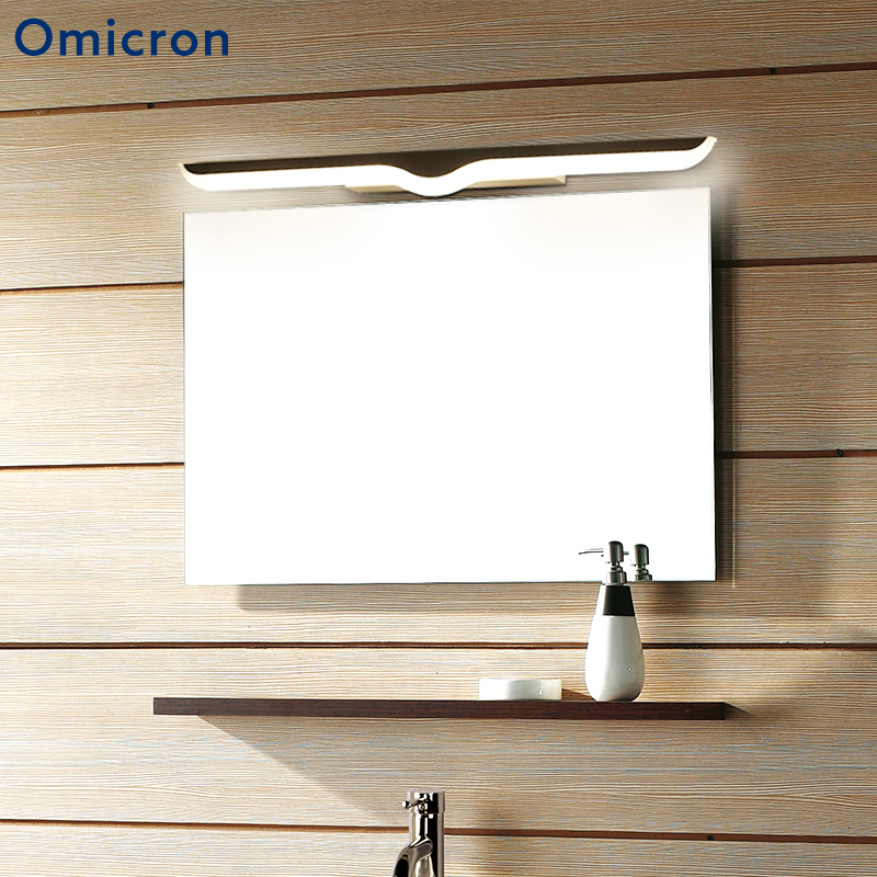 цена на Omicron Modern Iron LED Minimalism Mirror Front Light Bathroom Wall Lights Vanity Toilet Wall Mounted Sconces Lighting Fixture