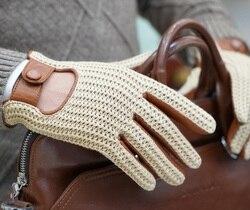 Homme en cuir véritable gant pilote gant moto peau de chèvre en cuir gant écran tactile hommes en cuir conduite gant