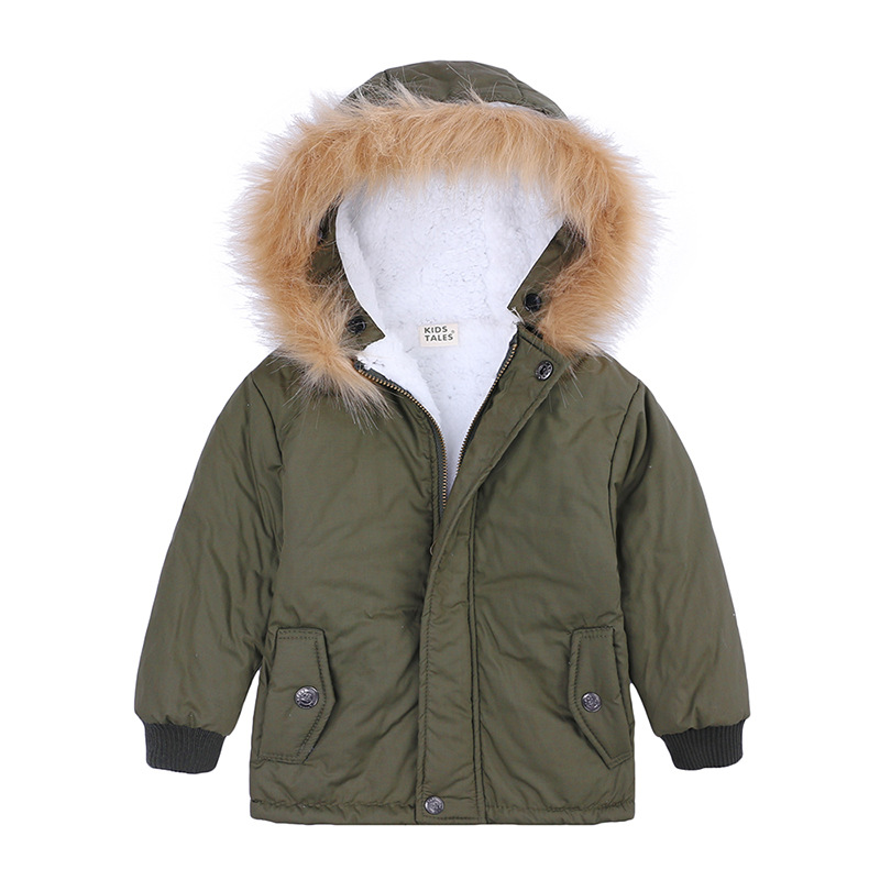 Coat Down-Jacket Real-Fur Winter Kids Parka Girls for Warm Children Fleece Thickened