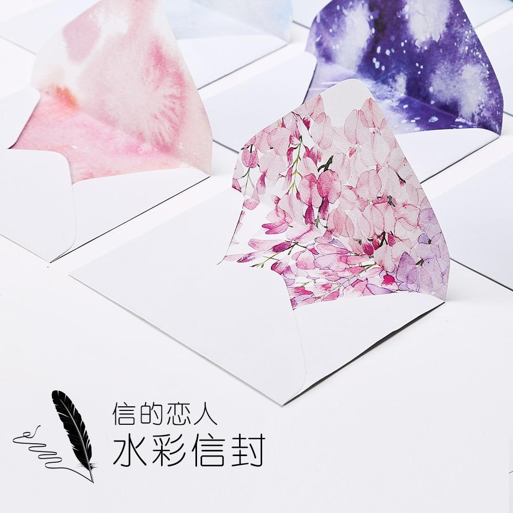 50 pçs/pçs/set dos desenhos animados papel comum presente janela envelopes plantio gradual cor sobres kraft envelopes tamanho 162*114mm 9 cor