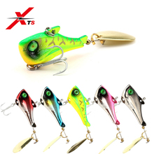 XTS Fishing Lure 7g 10.5g 14g 21g Artificial Hard Metal 6 Colors  A Shiny Spoon On The Tail Available Spinner Jerkb KJS008