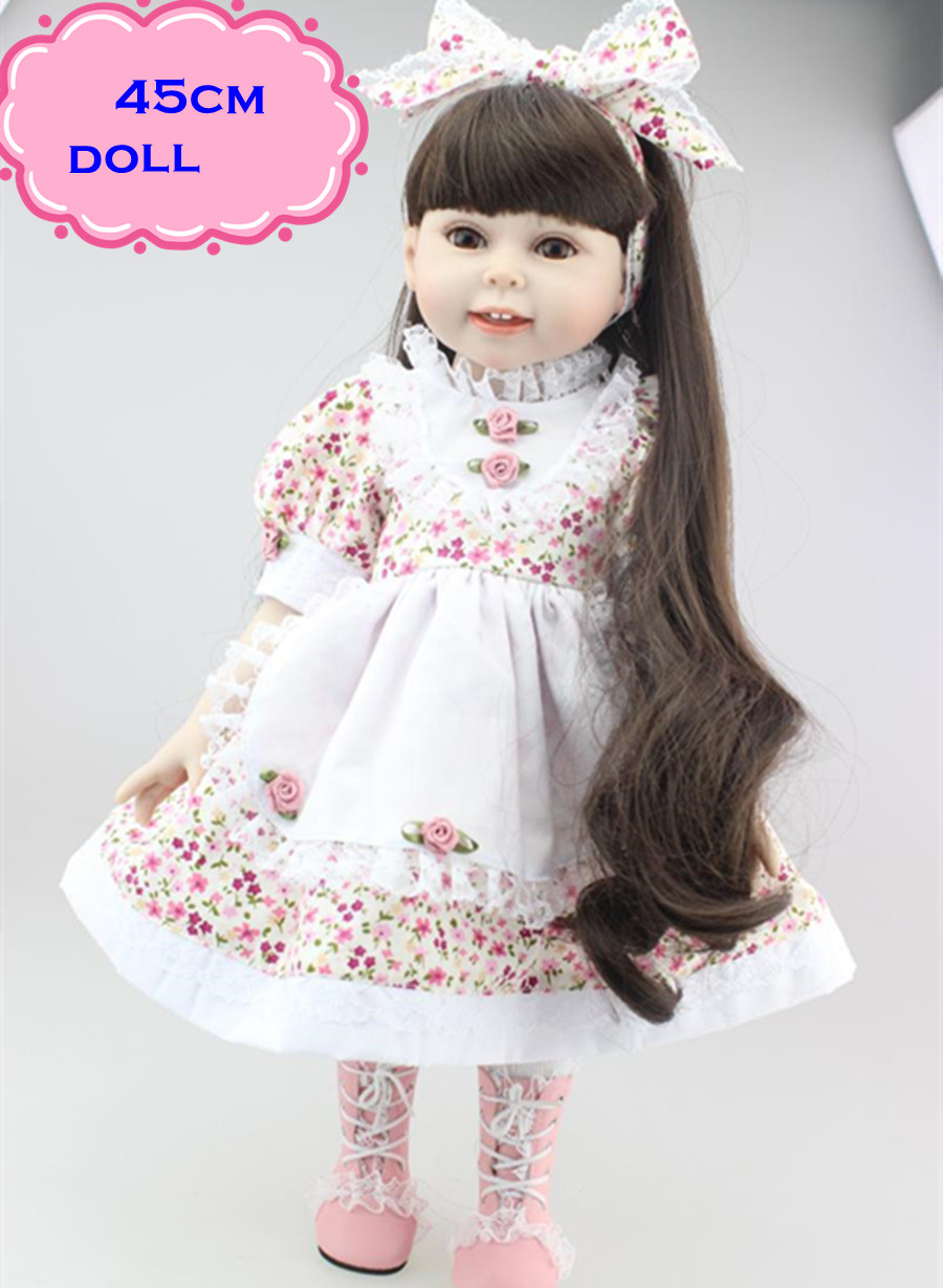 ФОТО NPK Best Play Poupee Toys American Girl Doll In Beautiful Skirt About 18inch Handmade Full Silicone Reborn Dolls Toys For Girls