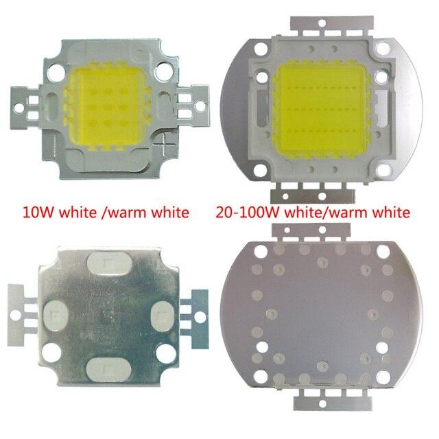 Пресс пакет продать 10W 20W 30W 50W 100 Вт светодио дный LED, встроенный высокой светодио дный мощность led бусины белый/теплый белый 24 * 40mil тайвань чипы