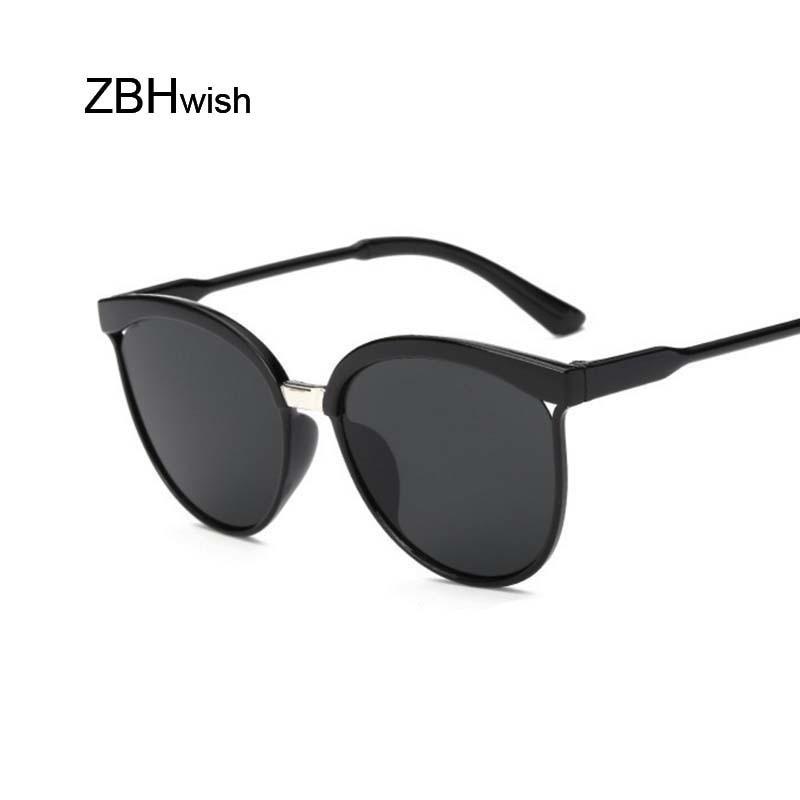 Vintage Black Sunglasses Women Cat Eye Sun Glasses For Women Color Lens Mirror Lady Sunglass Female Fashion Brand Design Oculos