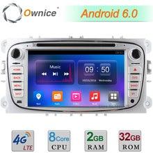 2 GB de RAM Android 6.0 Octa Core 4G DAB + Radio Del DVD Del Coche Player Para Ford Focus Mondeo s-max Galaxy Tránsito 2007 2008 2009 2010-2012