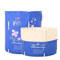 Portable bath TUBS Adult Bathtub Adult Folding Bathtub Banheira Inflavel Adultos Opblaasbare Bad Volwassenen 70*70cm Can Lift