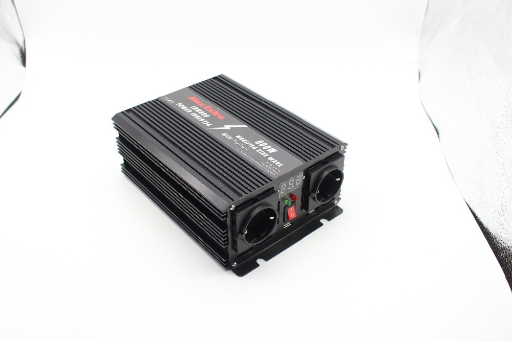 800W WATT DC 12V to AC 220V modified sine wave Portable Car Power Inverter Adapater Charger Converter Transformer mkm2000 242g c modified sine wave professional dc ac 2000 watt power inverter 24v to 220v electrical inverters with charger