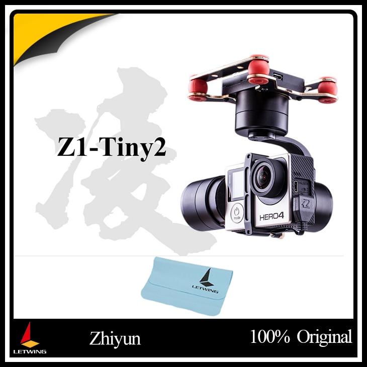 Free shipping !Newest Zhiyun Z1-TINY 2 3-Axis Brushless Gimbal for Gopro Hero 3 3+ 4 DJI Phantom 2 3 F450 F550 X525 Quadcopter