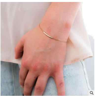 Sl265 2018 горячая Распродажа, модный браслет с металлической трубкой, простой позолоченный и серебряный браслет, женские очаровательные летние ювелирные изделия