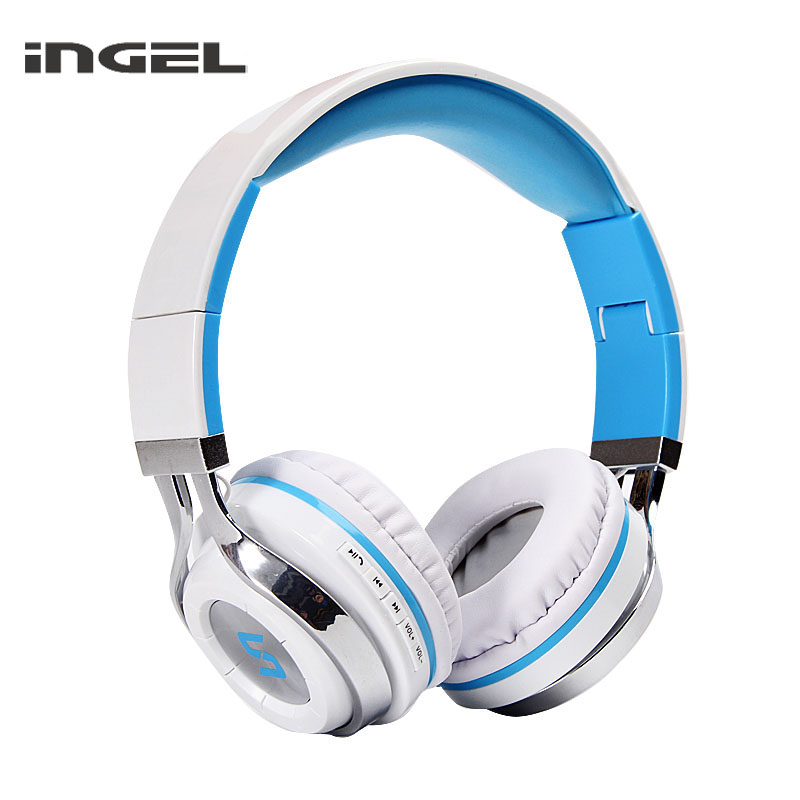 INGEL BT501 Wireless Bluetooth Headphones With Mic Foldable Hands-free Earbuds Stereo Music Headset for iPhone Android Phones new dacom carkit mini bluetooth headset wireless earphone mic with usb car charger for iphone airpods android huawei smartphone
